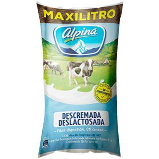 Leche Larga Vida Descremada Deslactosada Alpina 6600 ml