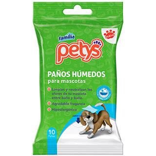 Paños Húmedos para Mascotas Petys 10 unidades