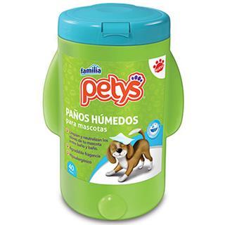 Paños Húmedos para Mascotas Petys 40 unidades
